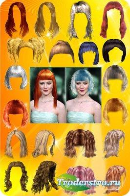 Шаблоны женских причёсок