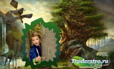 Рамка для фото-Прогулка с динозаврами