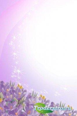 Рамка для фотошопа – Первые весенние цветы