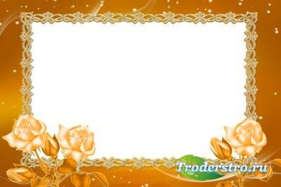 Рамка для фотошоп – Оранжевое настроение