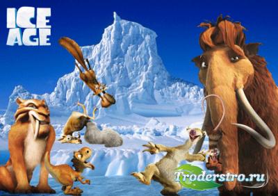 Детский шаблон для фото – Ледниковый период