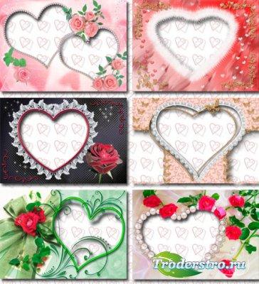 Свадебные рамки для фото сердечки