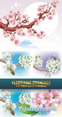 Векторный клипарт -  Flowering branches