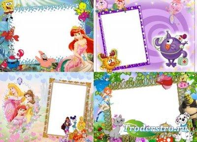 Детские рамки для фотошопа в PSD