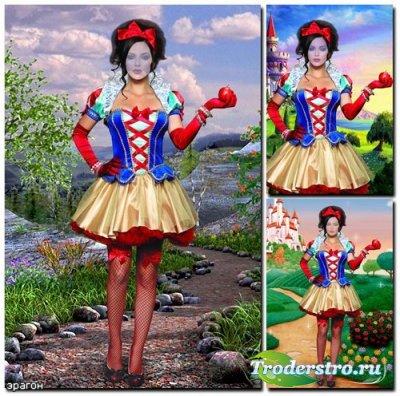 Женский костюм для фотошопа – Белоснежка