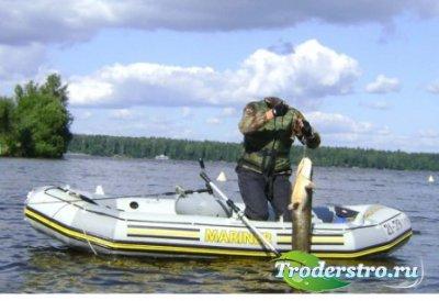 Шаблон для фотошоп – Улов с лодки
