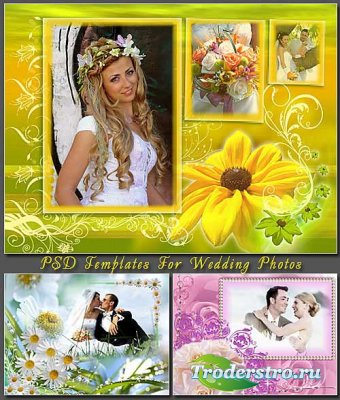 PSD Templates For Wedding Photos