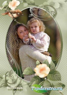 Рамка для фотошопа - Мечты о весне 2