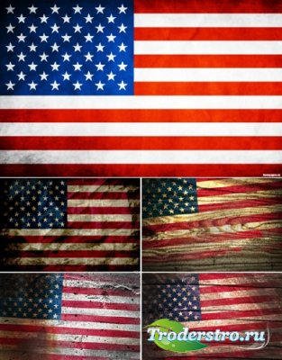 Растровый клипарт - Американские Флаги