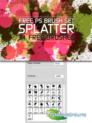 Splatter Brushes - Кисти для фотошопа