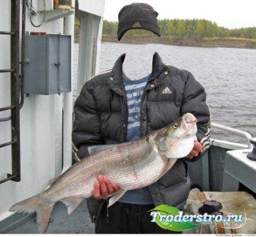 Шаблон для фотошоп – Рыбалка на баркасе