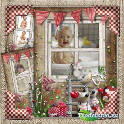 Детская рамка - Веселые мышата