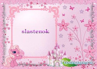 Детская рамка для фото - Розовый пони