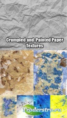 Текстуры - Крашенная и помятая бумага
