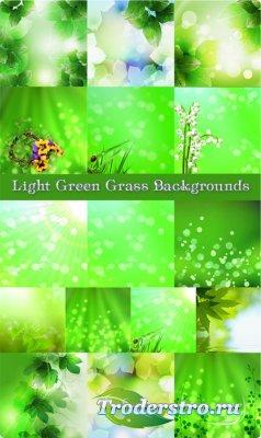Зеленые фоны для фотошопа - Блик света