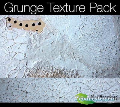 Набор белых гранжевых текстур