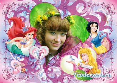 Рамка для Photoshop - Юная принцесса