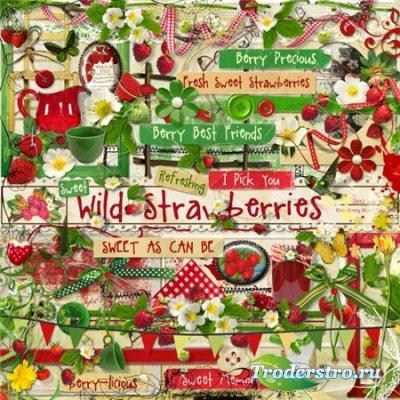 Мини скрап-набор - Wild Strawberries