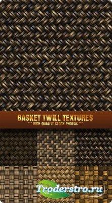 Фотоклипарт - Текстуры плетенной корзины