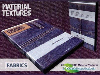 Набор фабричных текстур ткани