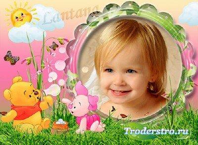 Детская рамка - Винни Пух и Пятачок