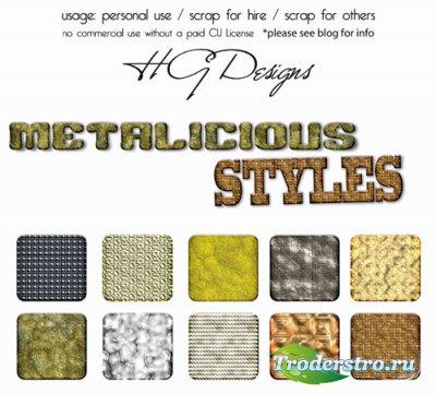 Стили для Photoshop - Металлические стили