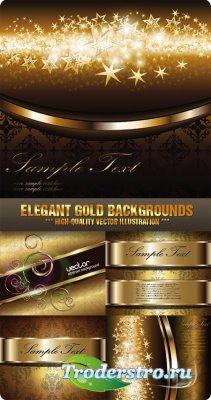 Векторный клипарт - Изящные золотые фоны