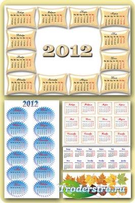 5 календарных сеток на 2012 год