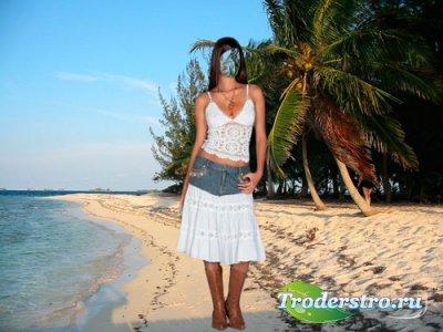 Шаблон женский - Песчаный пляж