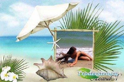 Морская рамка для фотошоп – Воспоминания о летнем отпуске