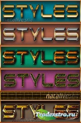 Текстовые стили – Блеск / Text styles - Shine