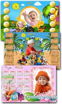 Детские фоторамки - календари на 2012 год - Мультики