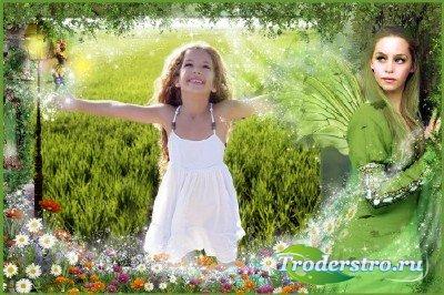 Детская фоторамка - Фея цветов