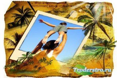 Фоторамка - Лето и пальмы