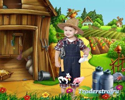 Шаблон для мальчика - Маленький фермер