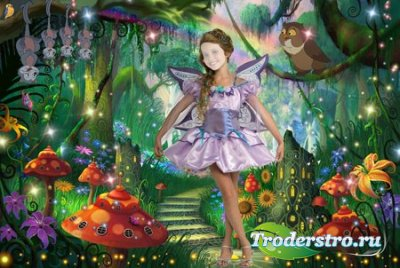 Шаблон для девочки - Фея в сказочном лесу