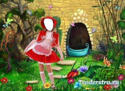 Сказочный шаблон для фотошопа – Красная шапочка