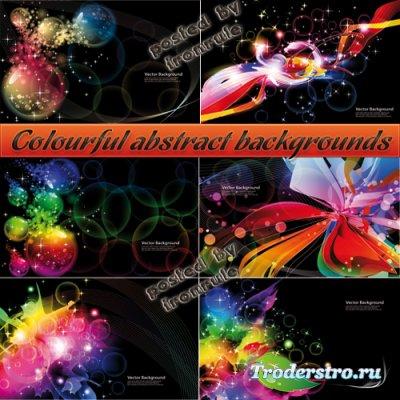 Яркие, красочные абстрактные фоны