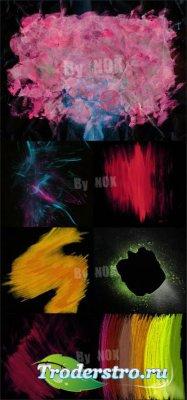 Текстуры - Штрихи разноцветными мелками на черном фоне