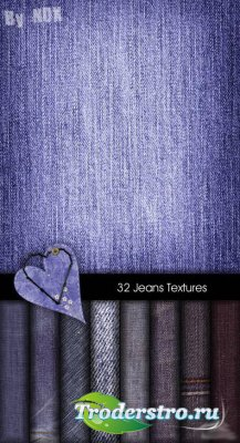 32 текстуры джинсовой ткани
