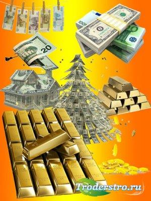 Векторный клипарт - Золото и деньги