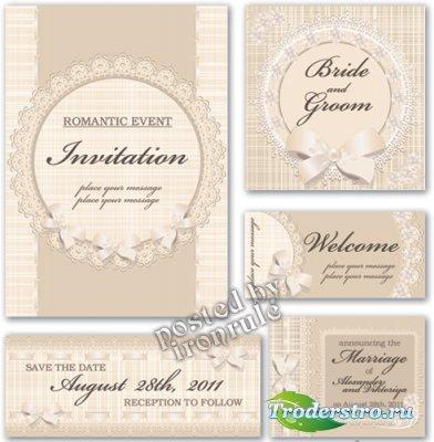 Романтические приглашения в винтажном стиле - 4