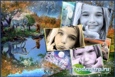 Детская фоторамка - Красивая легенда