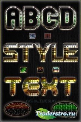 Текстовые стили  №11 / Text styles