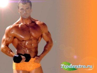 Шаблон для фото Стальные мышцы