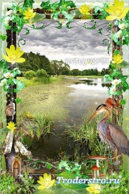 Рамка  для фото – Красота природы вдохновляет…