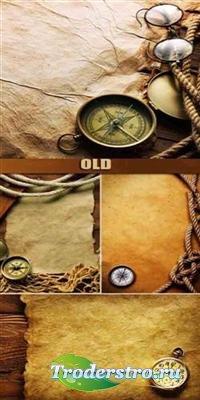 Старинные морские фоны с компасом
