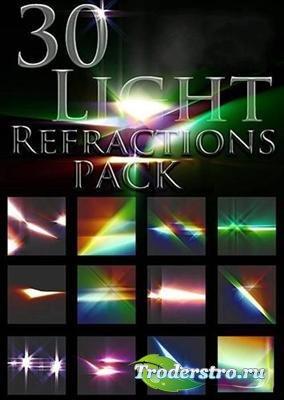 Рефракционные световые эффекты - фоны