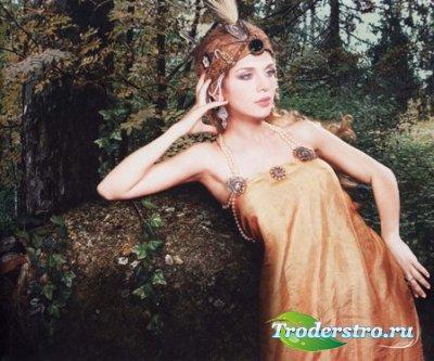 Шаблон для фото Лесная царевна