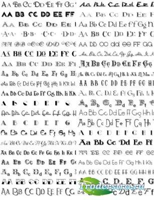 Красивых шрифтов в стиле ретро шрифты